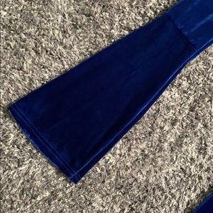 ASOS Dresses - ASOS Crushed Blue Velvet Long Sleeve Mini Dress